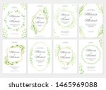 wedding invitation with green... | Shutterstock .eps vector #1465969088