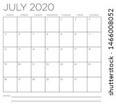 month of july 2020 square wall... | Shutterstock .eps vector #1466008052