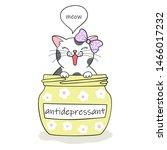 furry antidepressant. cute... | Shutterstock .eps vector #1466017232