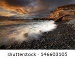 """playa de fanabe""  tenerife ...   Shutterstock . vector #146603105"