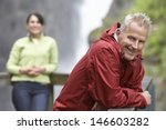 smiling middle aged man with... | Shutterstock . vector #146603282
