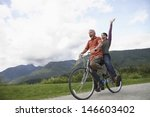 low angle view of a cheerful... | Shutterstock . vector #146603402