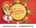 Happy Onam Festival Design Wit...