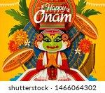happy onam festival with...   Shutterstock .eps vector #1466064302