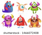 cartoon monsters collection.... | Shutterstock . vector #1466072408