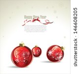 new year or christmas vector...   Shutterstock .eps vector #146608205