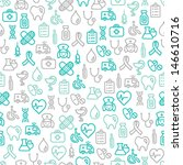 seamless pattern with medical... | Shutterstock .eps vector #146610716