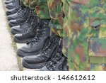army   military boots | Shutterstock . vector #146612612