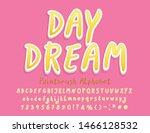 modern hand drawn alphabet.... | Shutterstock .eps vector #1466128532