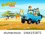 african safari flat vector... | Shutterstock .eps vector #1466151872