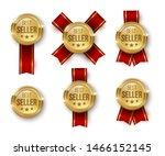 award medal 3d realistic vector ... | Shutterstock .eps vector #1466152145