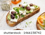 Open Sandwich Made Of Slices O...