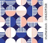 oversized retro geo dots vector ... | Shutterstock .eps vector #1466209268