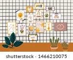 stylish scandic living room... | Shutterstock .eps vector #1466210075