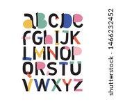 colorful vector alphabet.... | Shutterstock .eps vector #1466232452