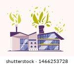 modern green eco factory... | Shutterstock .eps vector #1466253728