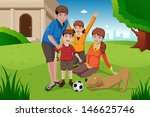 a vector illustration of happy... | Shutterstock .eps vector #146625746