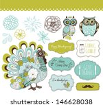 happy thanksgiving beautiful... | Shutterstock .eps vector #146628038