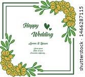 beautiful flower frames ... | Shutterstock .eps vector #1466287115