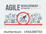 agile development methodology... | Shutterstock .eps vector #1466288702