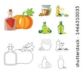 isolated object of healthy and... | Shutterstock .eps vector #1466310035