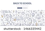 student goes to school at the... | Shutterstock .eps vector #1466335442