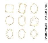 set gold of geometrical frame...   Shutterstock .eps vector #1466351708