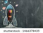 dark blackboard background of... | Shutterstock . vector #1466378435