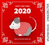 rat is a symbol of the 2020... | Shutterstock .eps vector #1466381705