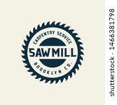 sawmill emblem logo vector for... | Shutterstock .eps vector #1466381798