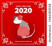 rat is a symbol of the 2020... | Shutterstock .eps vector #1466383028