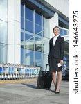 traveler walking out of airport ... | Shutterstock . vector #146643275