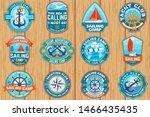 set of summer sailing camp... | Shutterstock .eps vector #1466435435