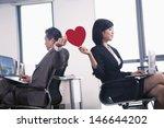 work romance between two... | Shutterstock . vector #146644202