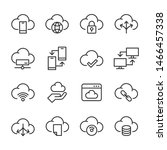 Vector Icons Set Of Cloud...