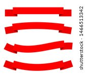 red ribbons set with different... | Shutterstock .eps vector #1466513342