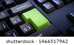 Small photo of Empty enter key to enter text or logo. Keyboard without letters.