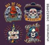 dia de los muertos colorful... | Shutterstock .eps vector #1466524988