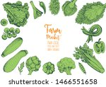 vegetables top view frame.... | Shutterstock .eps vector #1466551658