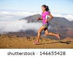 runner woman athlete running...   Shutterstock . vector #146655428
