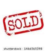 sold stamp on white background | Shutterstock .eps vector #1466565398