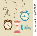 watches icons over vintage... | Shutterstock .eps vector #146656895