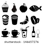 food icons over white...   Shutterstock .eps vector #146657276