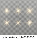yellow glowing light explodes... | Shutterstock .eps vector #1466575655
