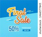 final sale banner template... | Shutterstock .eps vector #1466577845