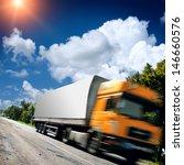 big truck on the asphalt road | Shutterstock . vector #146660576