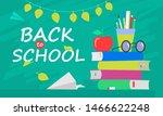 back to school banner  flat... | Shutterstock .eps vector #1466622248