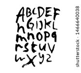 dry brush alphabet font set... | Shutterstock .eps vector #1466640038