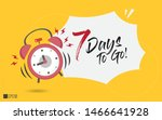 7 days to go last countdown... | Shutterstock .eps vector #1466641928