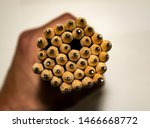 hole in group of pencils....   Shutterstock . vector #1466668772